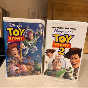 Disney Toy Story 1 AND 2 in Clamshell Cases